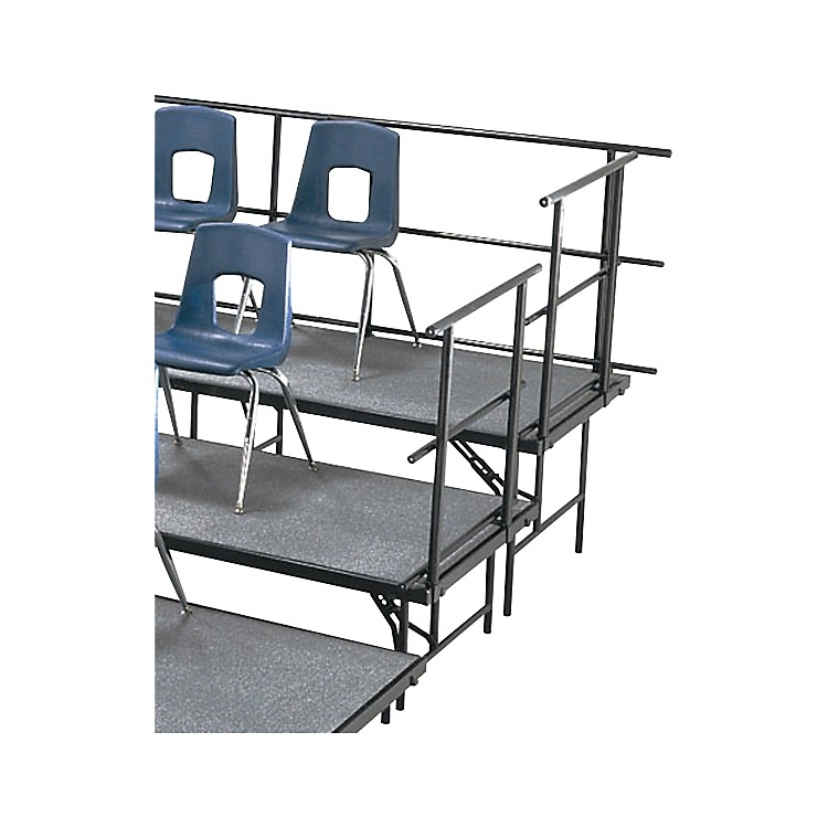 Midwest Folding Products SLOPING GUARD RAILS FOR STANDING CHORAL RISERS FOR 4 LEVEL, 72 Inches High