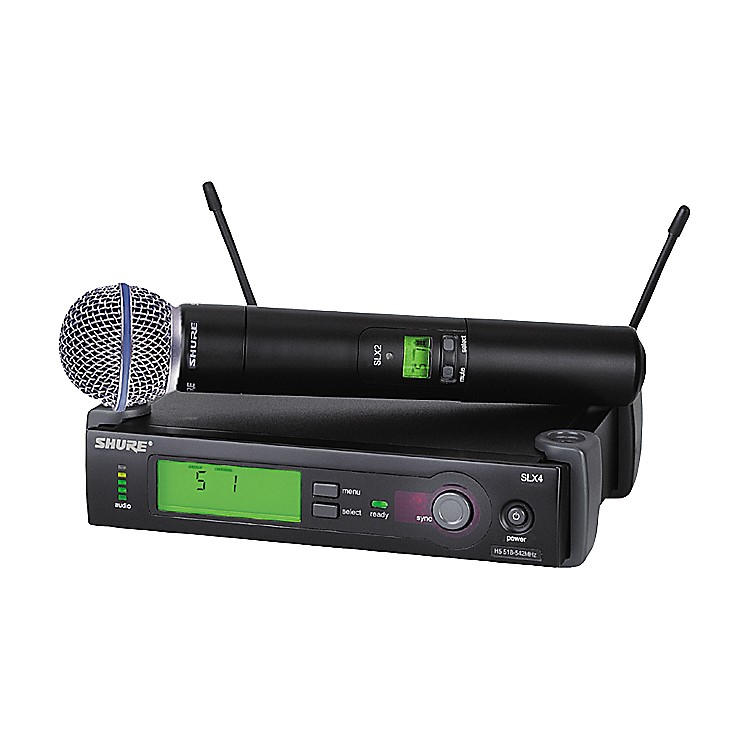 Shure SLX24/BETA58 Wireless Handheld Microphone System Band G4
