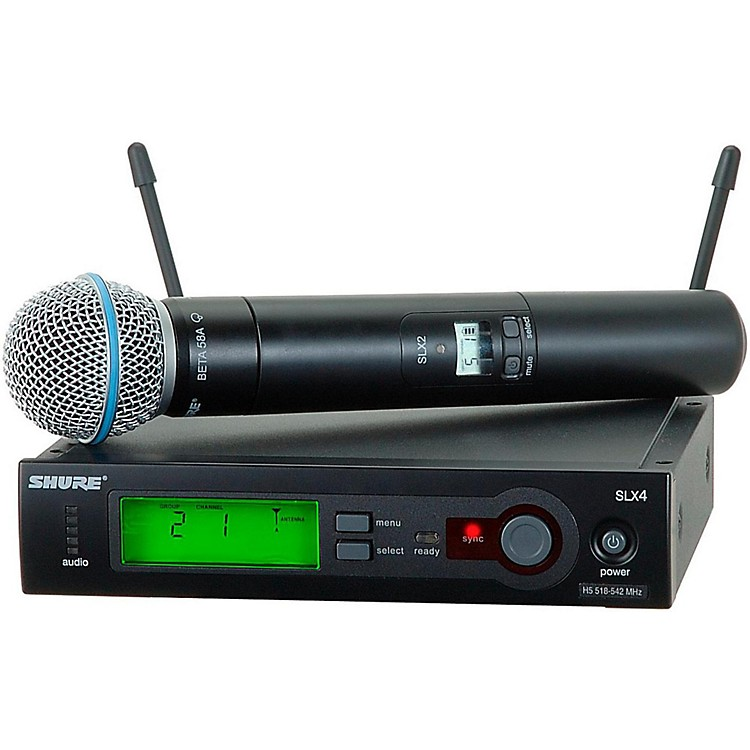 Shure SLX24/BETA58 Wireless Handheld Microphone System Band H19