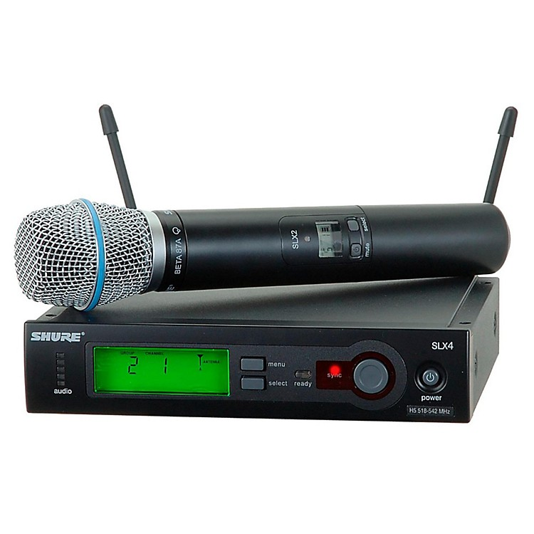Shure SLX24/BETA87A Wireless Mic Sys Band H19