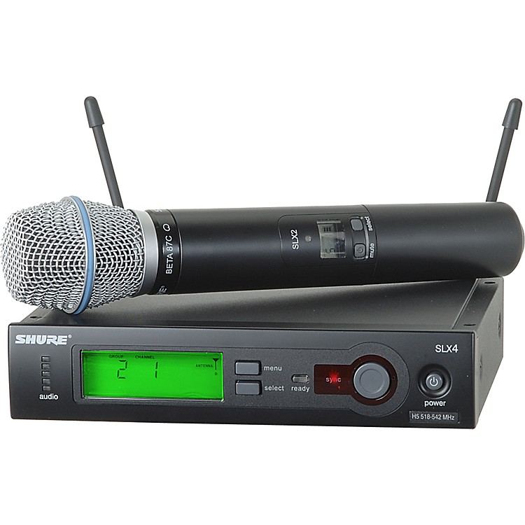 Shure SLX24/BETA87C Wireless Microphone System Band G4