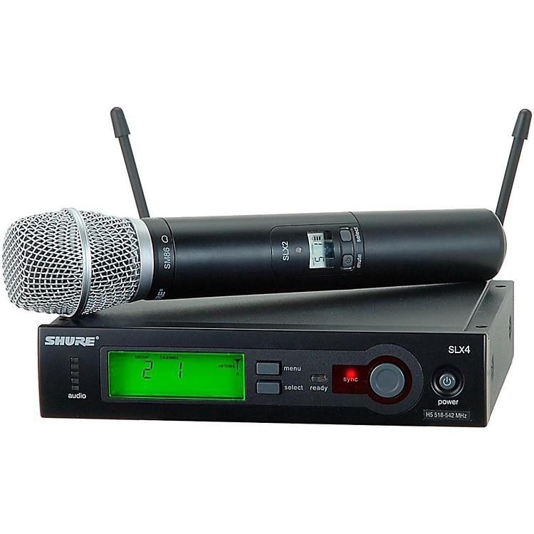 Shure SLX24/SM86 Wireless Microphone System Band H19