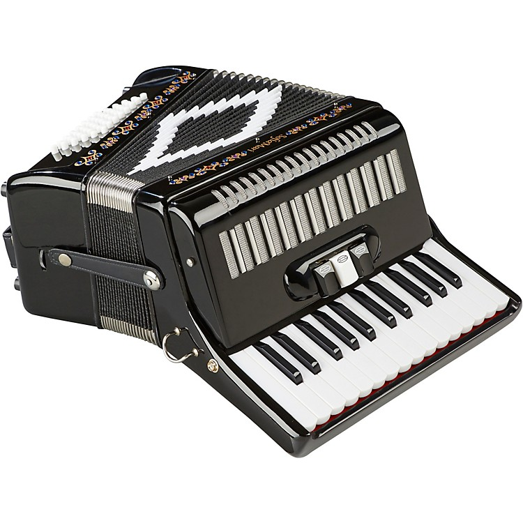 SofiaMari SM-2648, 26 Piano 48 Bass Accordion Black Pearl