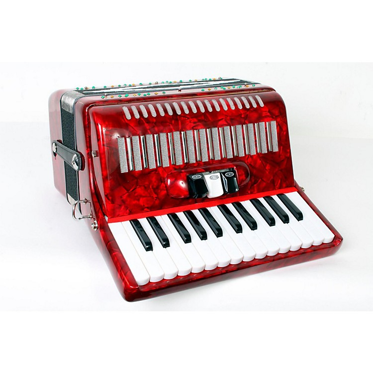 SofiaMari SM-2648, 26 Piano 48 Bass Accordion Red Pearl 888365779041