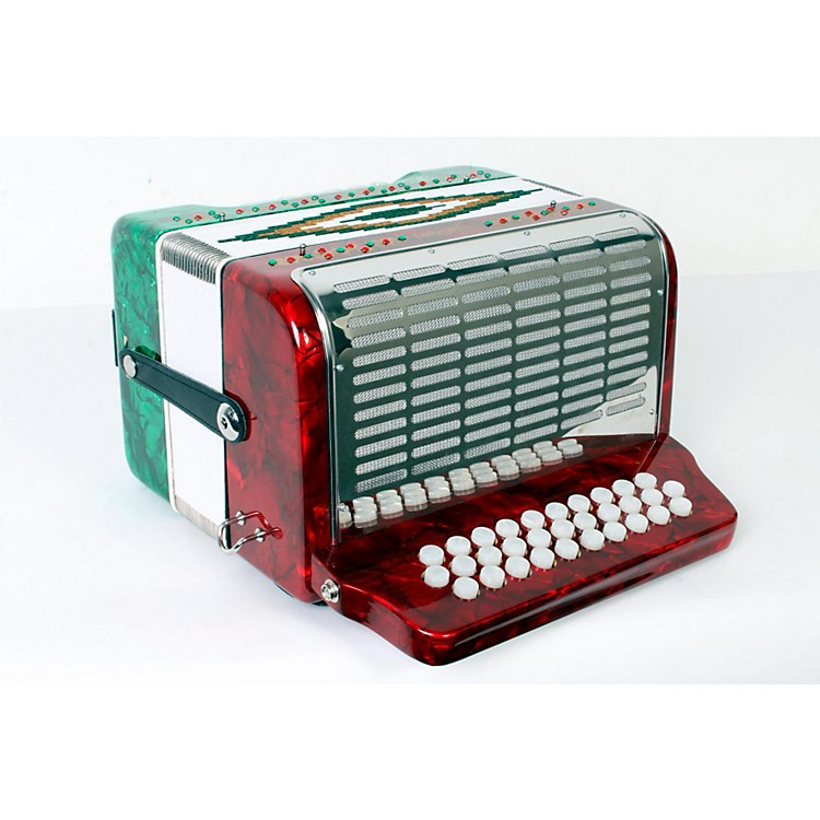SofiaMariSM-3112 31-Button 12 Bass Accordion GCFRed and Green Pearl888365777757