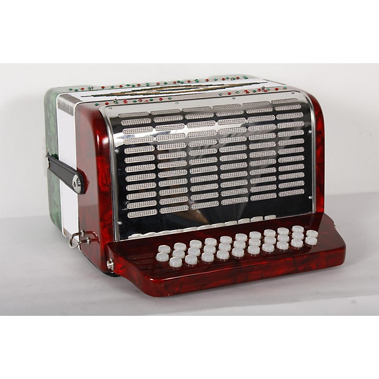 SofiaMariSM-3112 31-Button 12 Bass Accordion GCFRed and Green Pearl888365831268
