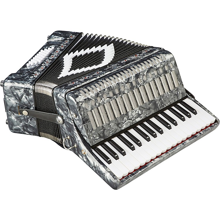 SofiaMari SM-3232 32 Piano 32 Bass Accordion Gray Pearl