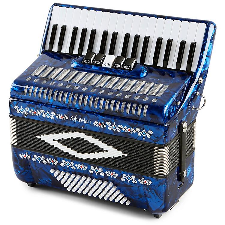 SofiaMariSM 3472 34 Piano 72 Bass Button AccordionDark Blue Pearl190839040510