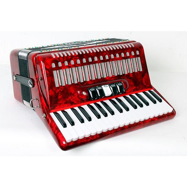 SofiaMariSM 3472 34 Piano 72 Bass Button AccordionRed Pearl888365779003
