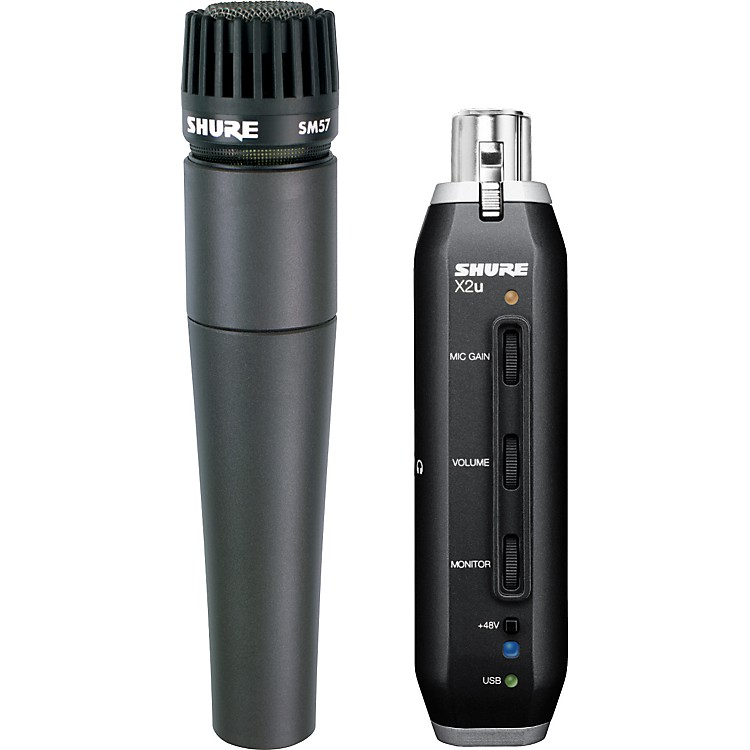 Shure SM57-X2U SM57 MIC WITH XLR-TO-USB PACKAGE