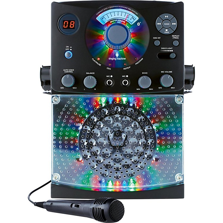 The Singing MachineSML385BT Bluetooth Karaoke System with CD Player and LED lightsBlack