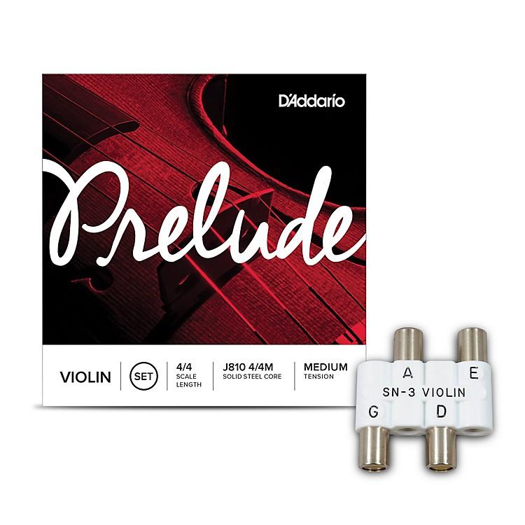KrattSN3 Violin Pitch Pipe With D'Addario Prelude Violin String Set 4/4