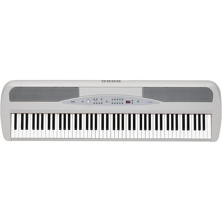 Korg SP-280 88-Key Digital Piano with Stand White