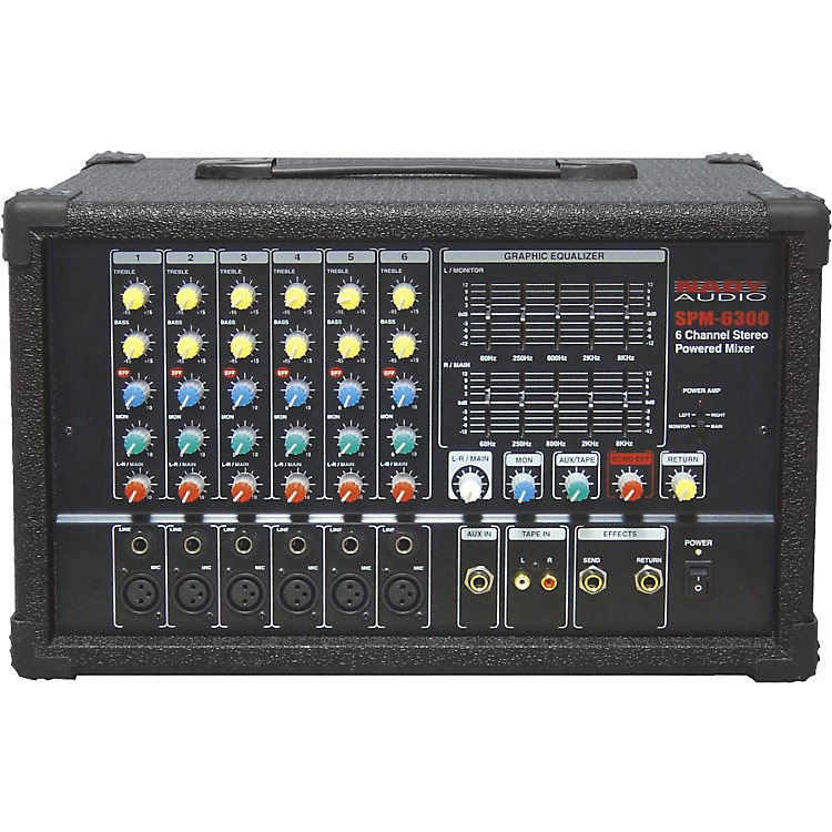 Nady SPM-6300 6-Channel Powered Mixer with DSP