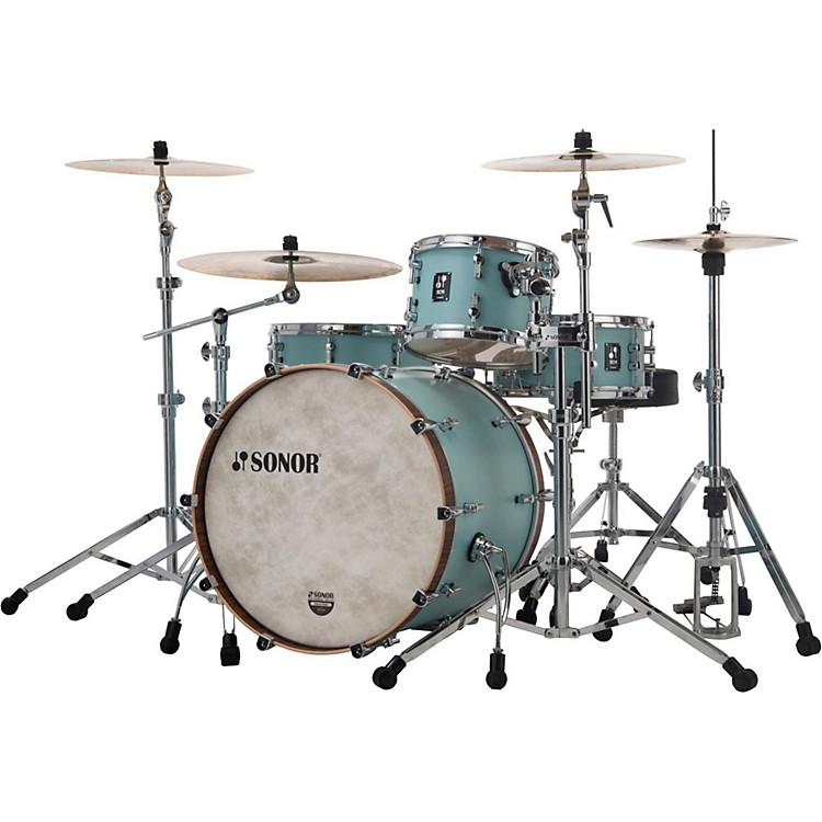 Sonor SQ1 3-Piece Shell Pack with 20 in. Bass Drum Cruiser Blue