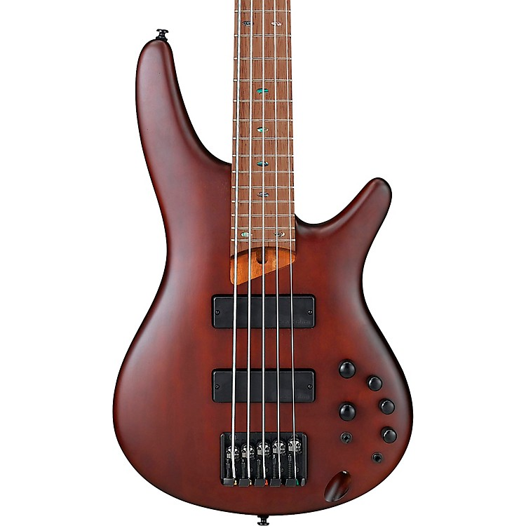 Ibanez SR505EZW 5-String Electric Bass Guitar Flat Brown Burst