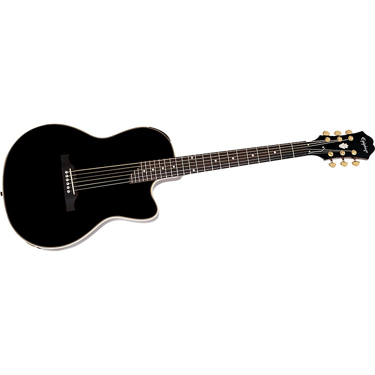 Epiphone SST Studio Acoustic-Electric Guitar Ebony Gold Hardware