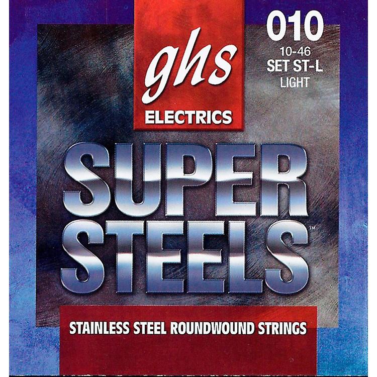 GHSST-L Super Steels Roundwound Light Electric Guitar Strings