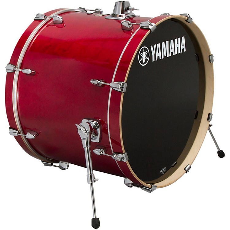 Yamaha STAGE SBB 2017NW CUSTOM BIRCH BASS DRUM 20X17 IN NATURAL WOOD 20 x 17 in. Cranberry Red