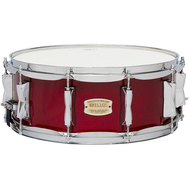 Yamaha STAGE SBS 1455CR CUSTOM BIRCH SNARE 14X5 5 IN CRANBERRY RED 14 x 5.5 in. Natural Wood