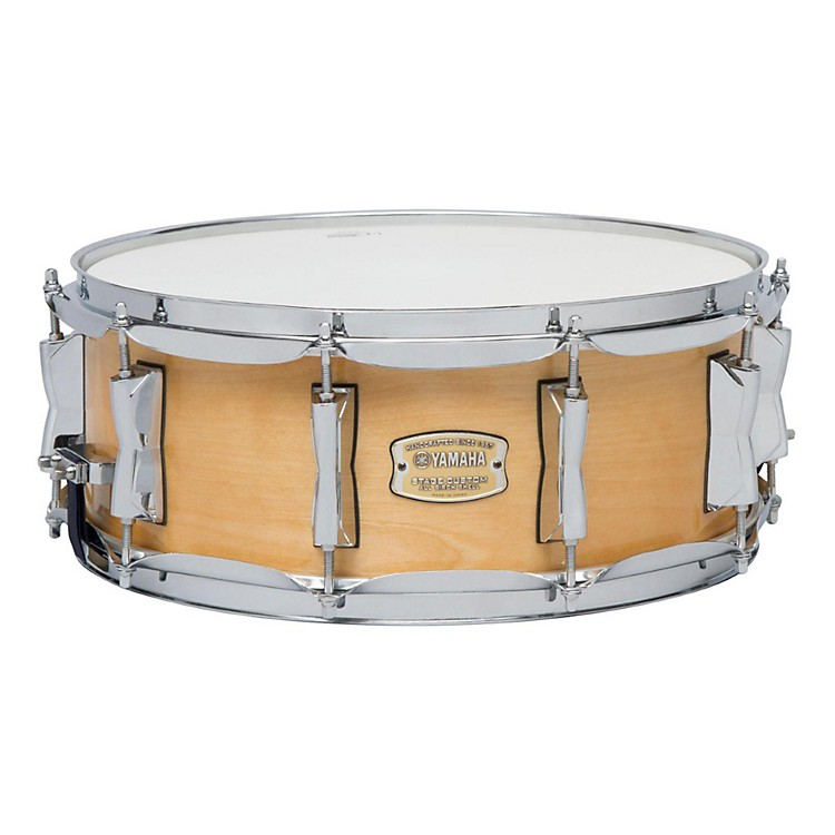 YamahaSTAGE SBS 1455CR CUSTOM BIRCH SNARE 14X5 5 IN CRANBERRY RED14 x 5.5 in.Natural Wood