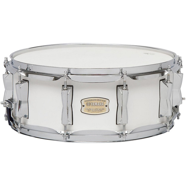 Yamaha STAGE SBS 1455CR CUSTOM BIRCH SNARE 14X5 5 IN CRANBERRY RED 14 x 5.5 in. Pure White