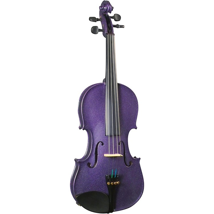 Cremona SV-130PP Series Sparkling Purple Violin Outfit 4/4 Size