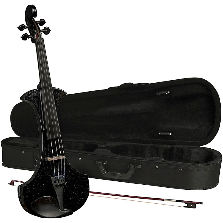Cremona SV-180BKE Premier Student Electric Violin Outfit 4/4 Metallic Black
