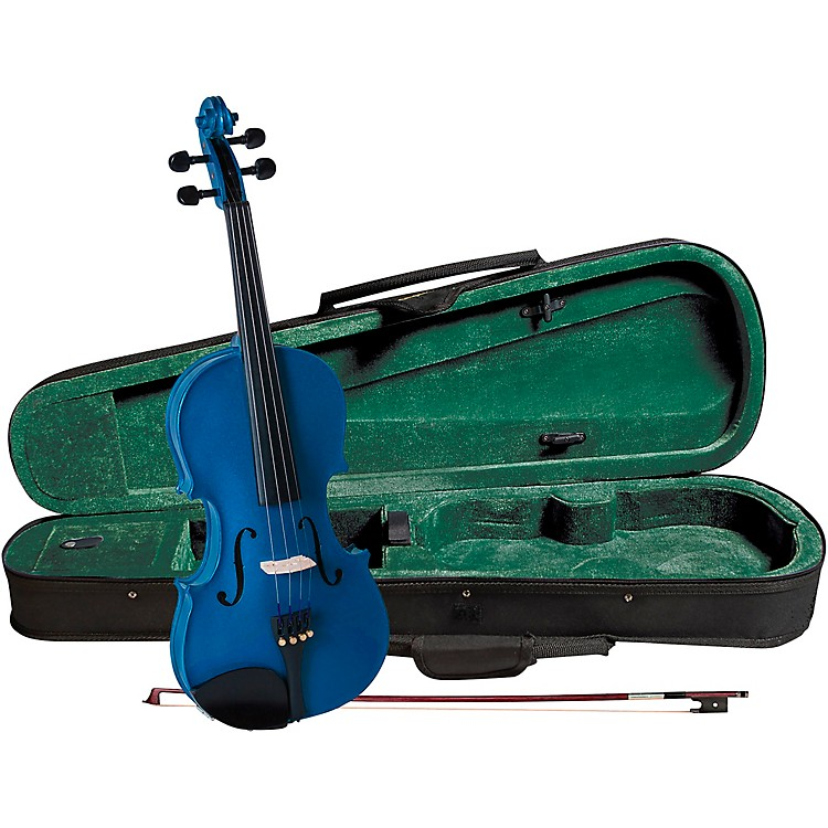 Cremona SV-75BU Premier Novice Series Sparkling Blue Violin Outfit 1/4 Outfit