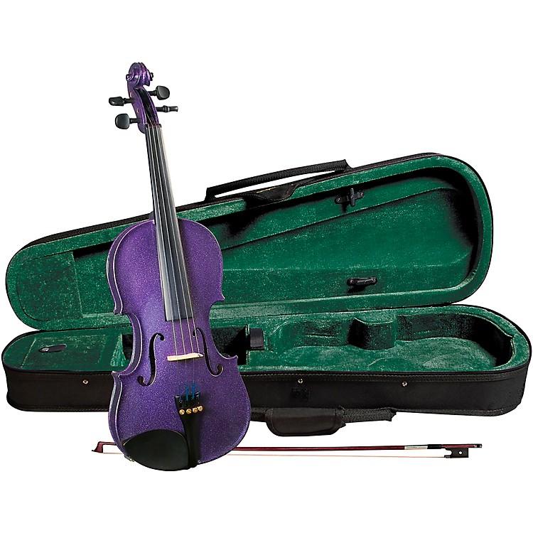 CremonaSV-75PP Premier Novice Series Sparkling Purple Violin Outfit1/2 Outfit