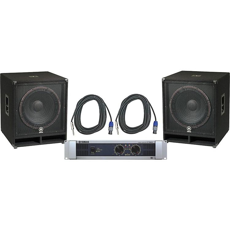 YamahaSW118V/ P7000S Speaker & Amp Package