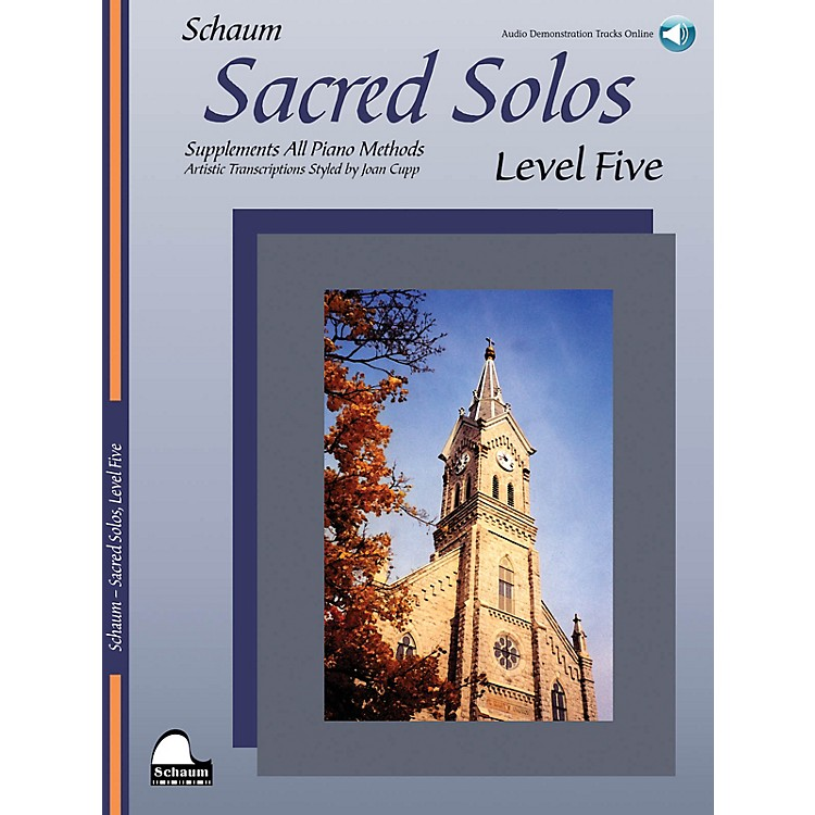 SCHAUMSacred Solos - Level Five Educational Piano Book with CD (Level Upper Inter)