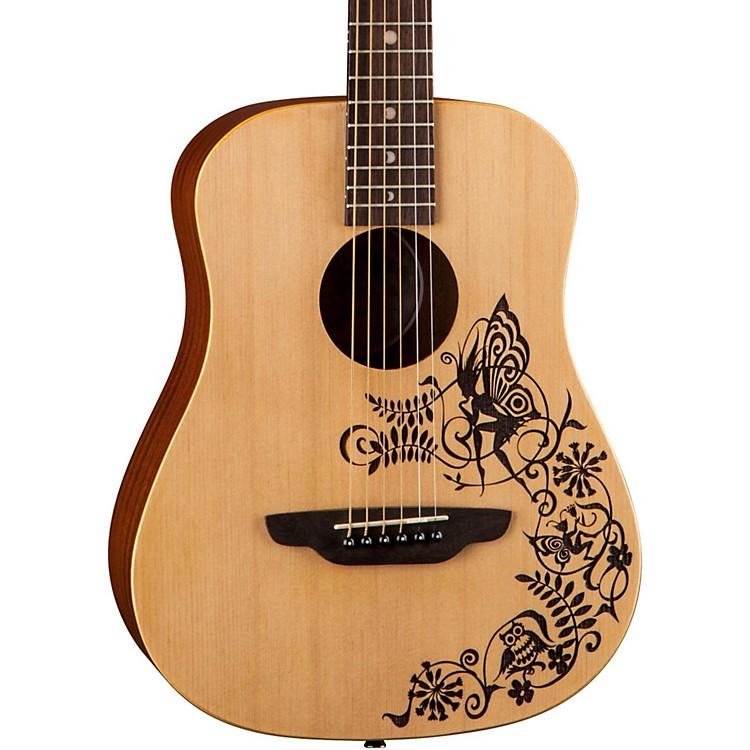 Luna GuitarsSafari Fantasy Travel Acoustic GuitarNatural
