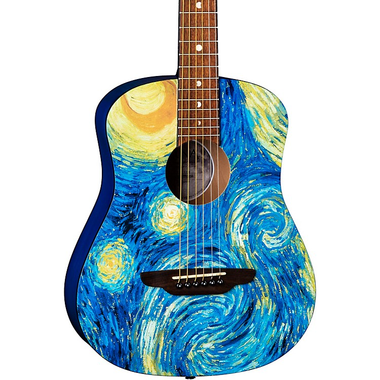 Luna Guitars Safari Starry Night 3/4 Size Travel Acoustic Guitar