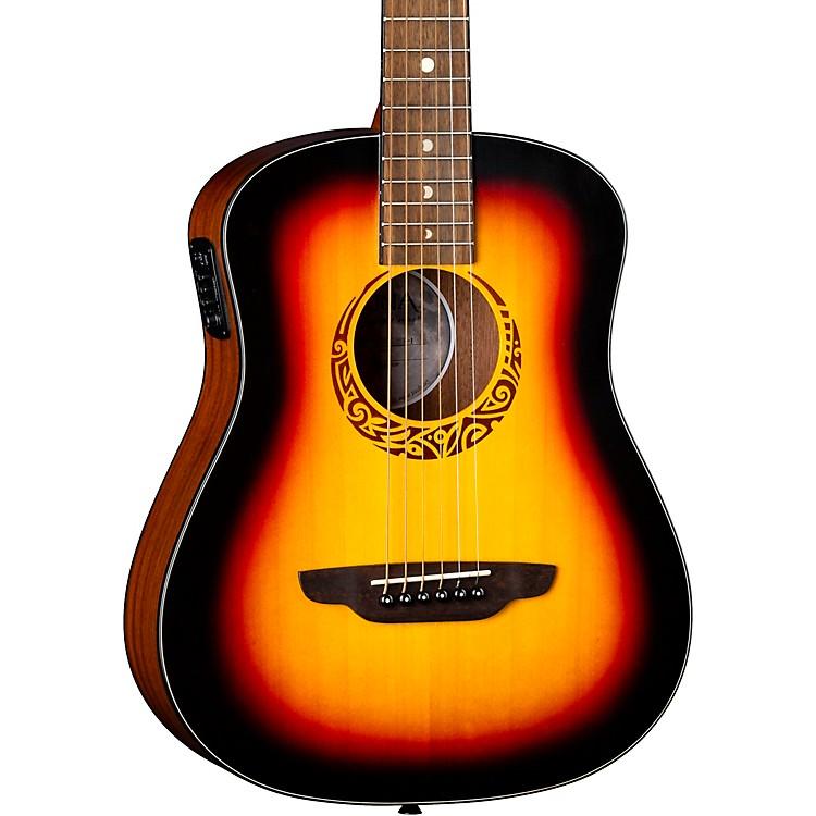 Luna GuitarsSafari Tribal 3/4 Size Travel Acoustic/Electric GuitarTobacco Sunburst