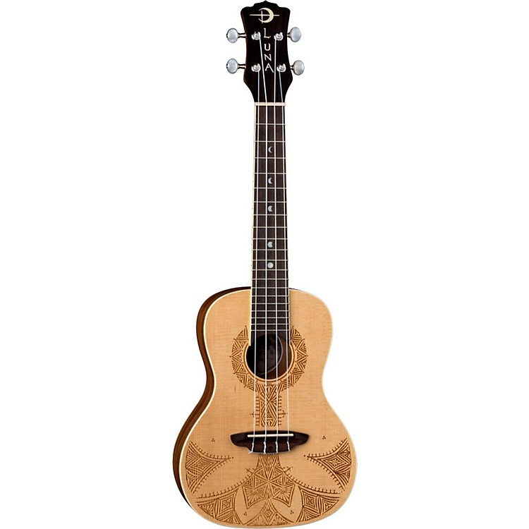 Luna Guitars Sahara Spruce Ukulele Satin Natural