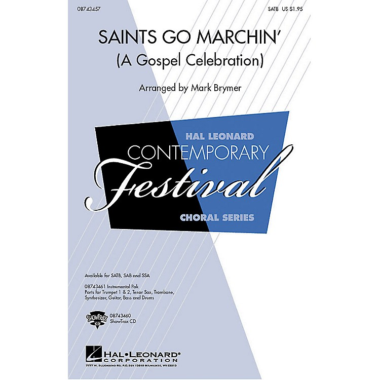 Hal Leonard Saints Go Marchin' (A Gospel Celebration!) SATB arranged by Mark Brymer