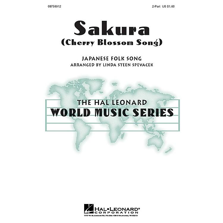 Hal LeonardSakura (Cherry Blossom Song) 2-Part arranged by Linda Spevacek