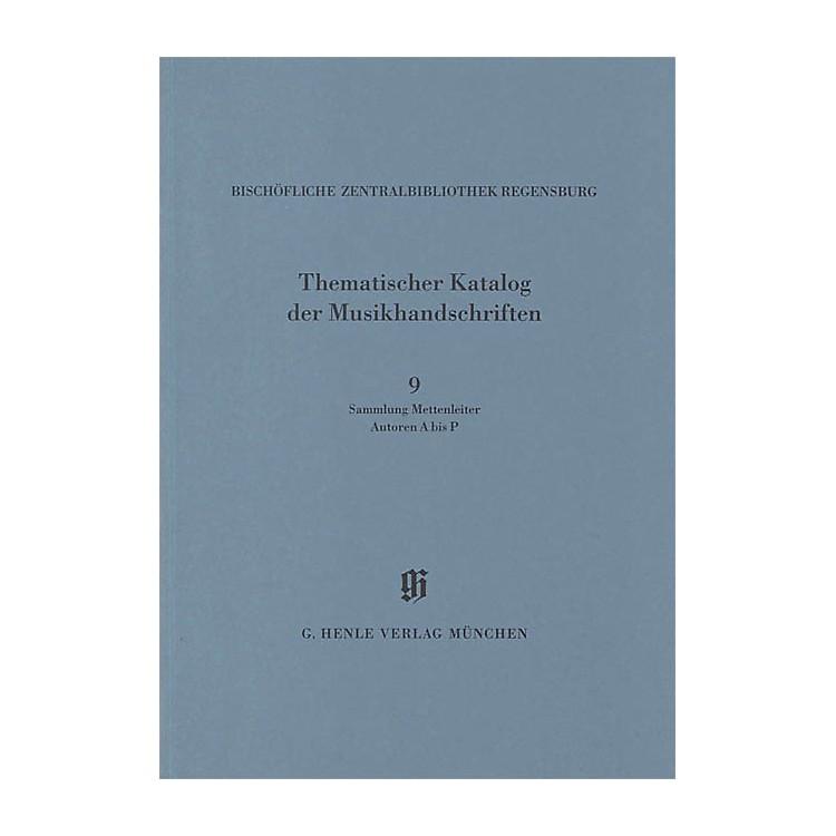 G. Henle VerlagSammlung Mettenleiter, Autoren A bis P Henle Books Series Softcover