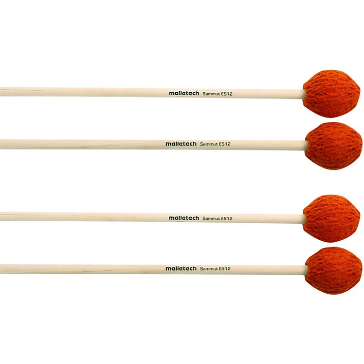 Malletech Sammut Marimba Mallets Set of 4 (2 Matched Pairs) 12
