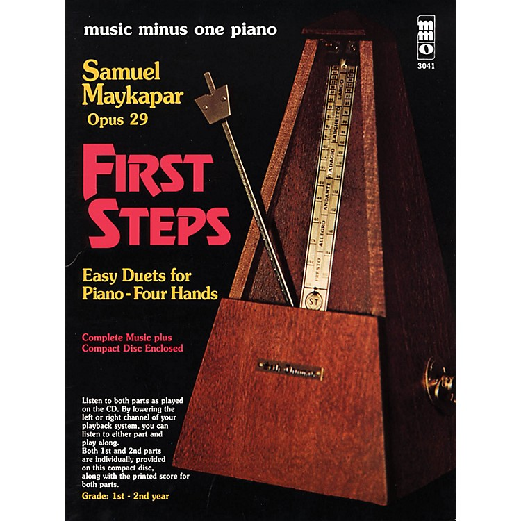 Music Minus OneSamuel Maykapar - First Steps, Op. 29 Music Minus One Series Softcover with CD