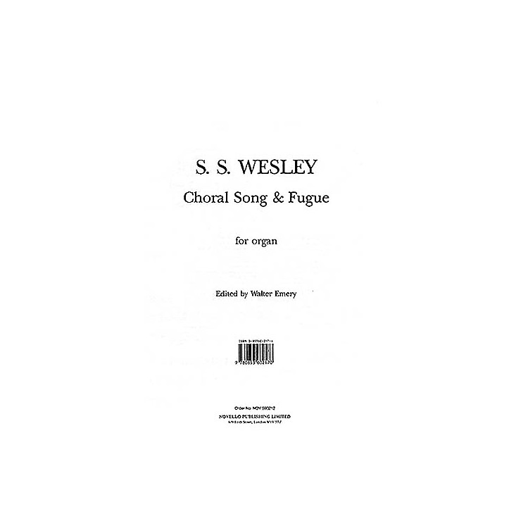 Music Sales Samuel Sebastian Wesley: Choral Song And Fugue Music Sales America Series