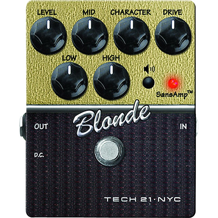 Tech 21SansAmp Character Series Blonde V2 Distortion Guitar Effects Pedal