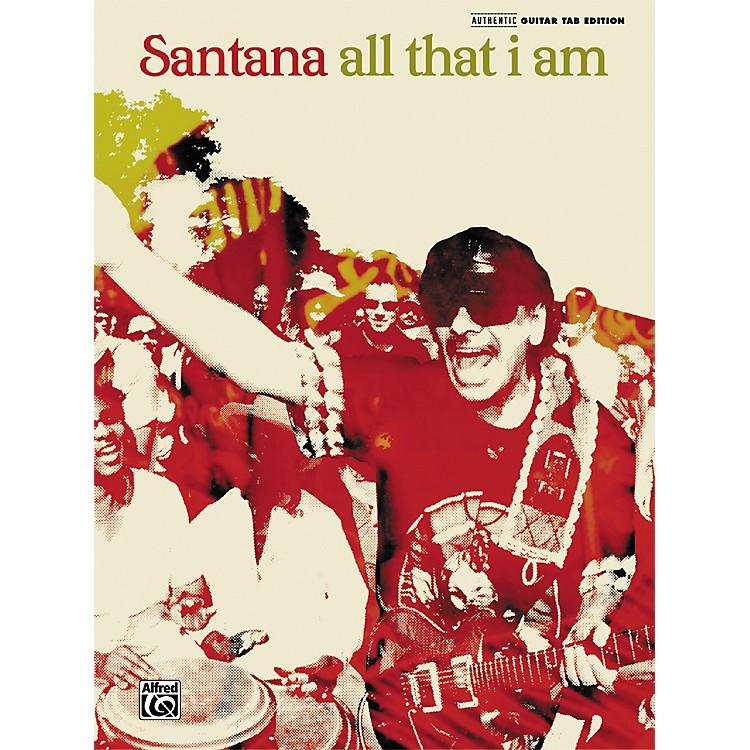 AlfredSantana All That I Am Guitar Tab Songbook