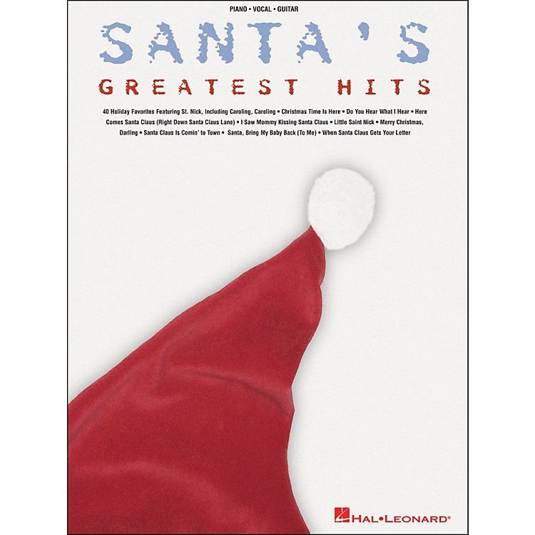 Hal LeonardSanta's Greatest Hits arranged for piano, vocal, and guitar (P/V/G)