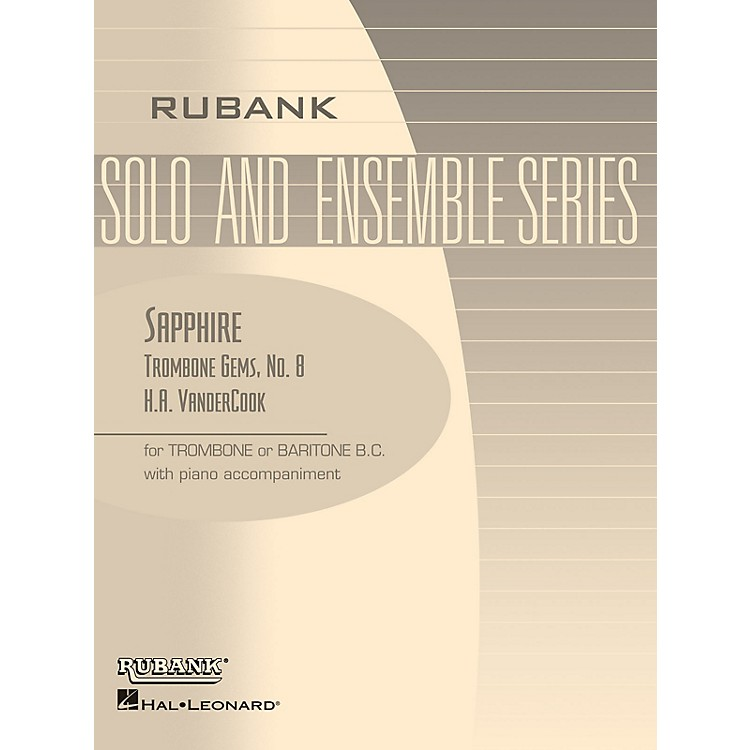 Rubank Publications Sapphire (Trombone (Baritone B.C.) Solo with Piano - Grade 3) Rubank Solo/Ensemble Sheet Series