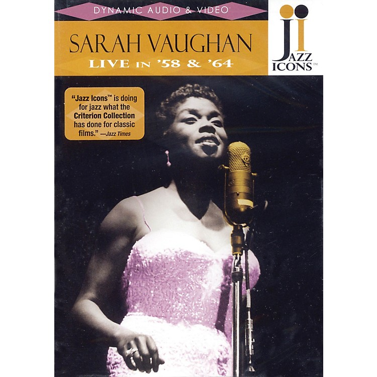 Jazz IconsSarah Vaughan - Live in '58 and '64 Live/DVD Series DVD Performed by Sarah Vaughan