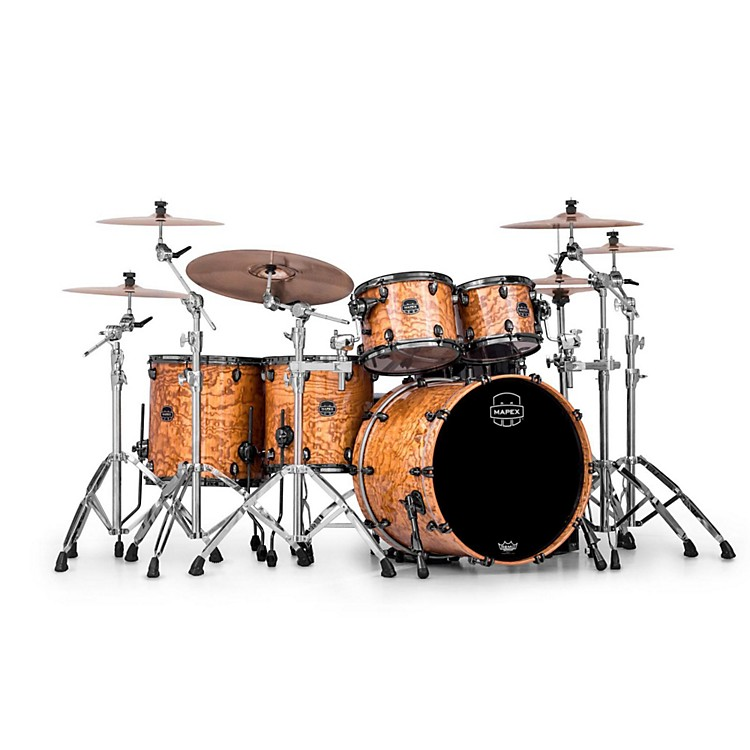 Mapex Saturn IV MH 5-Piece Studioease Shell Pack Natural Ash Burl