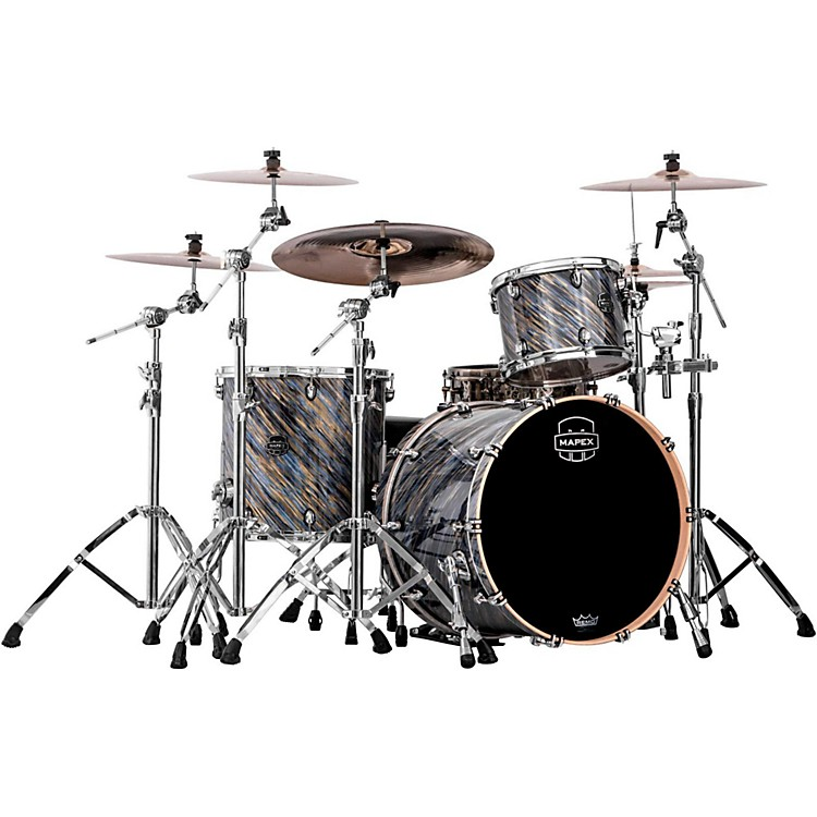 Mapex Saturn V 3-Piece Rock Shell Pack Marine Spiral Custom Wrap