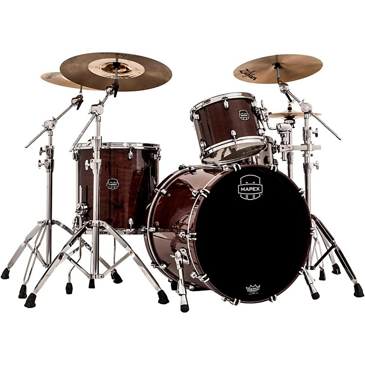 Mapex Saturn V 3-Piece Rock Shell Pack Transparent Espresso Walnut